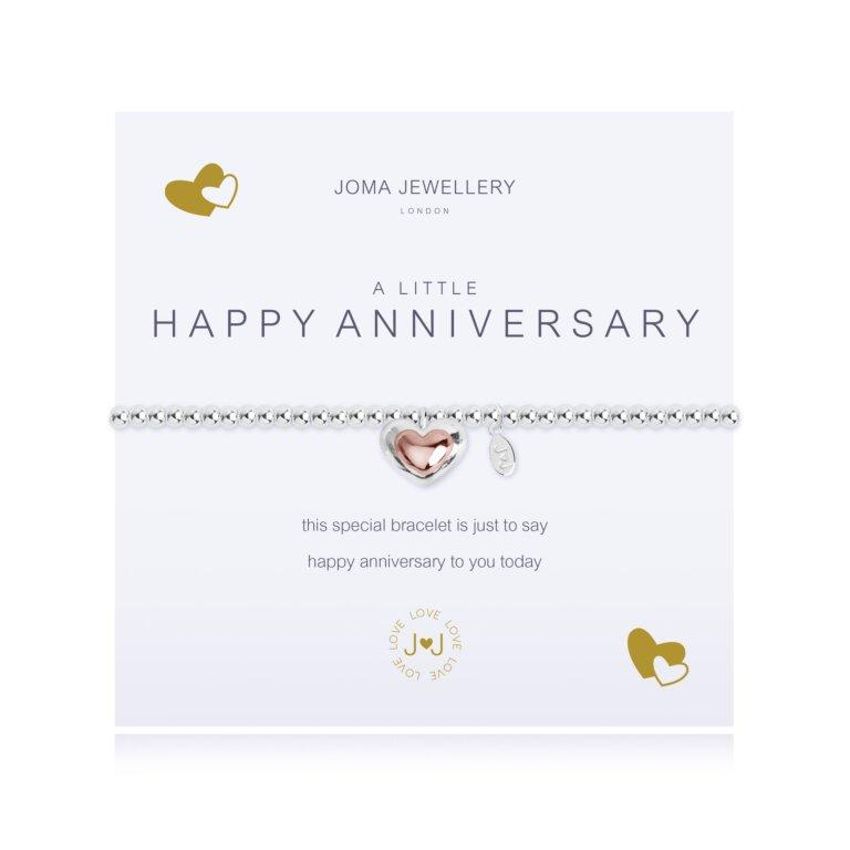 A Little Happy Anniversary Rose Gold Bracelet