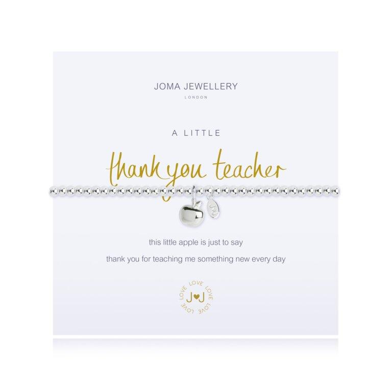 A Little Thank You Teacher Apple Bracelet