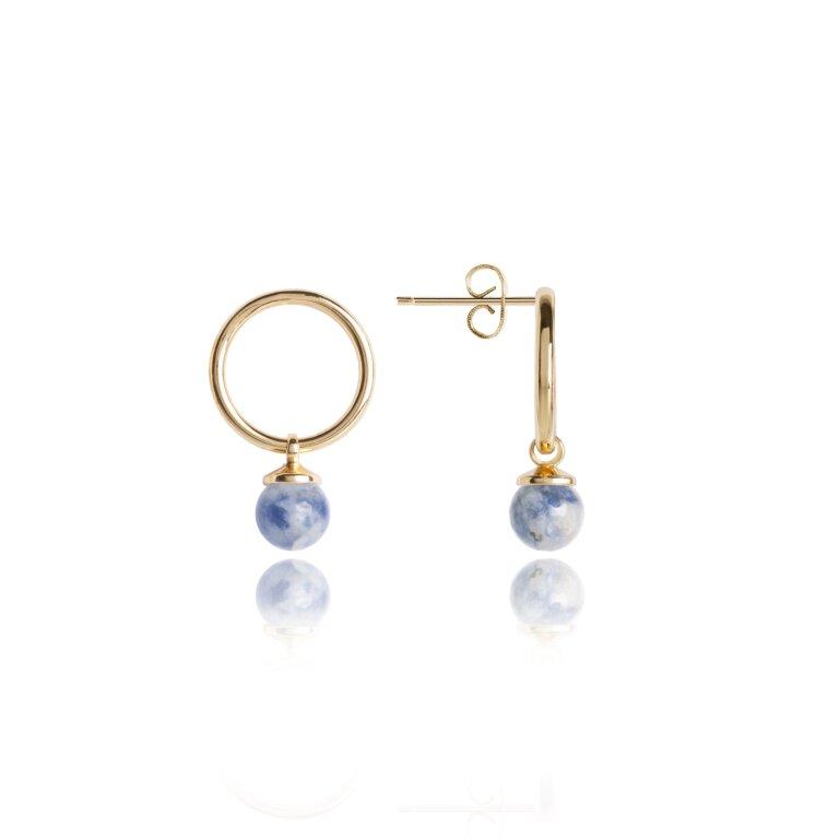Signature Stones Earrings Gold   Friendship