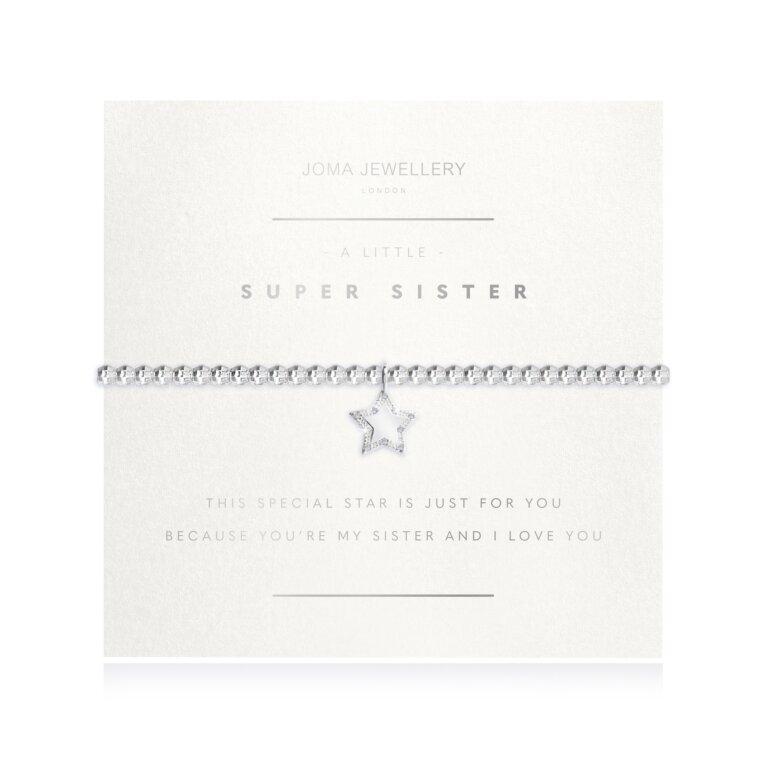 A Little Super Sister Faceted Bracelet