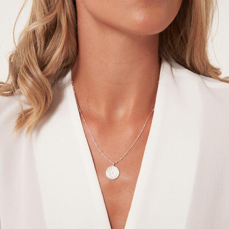 Zaria Silver Coin Necklace