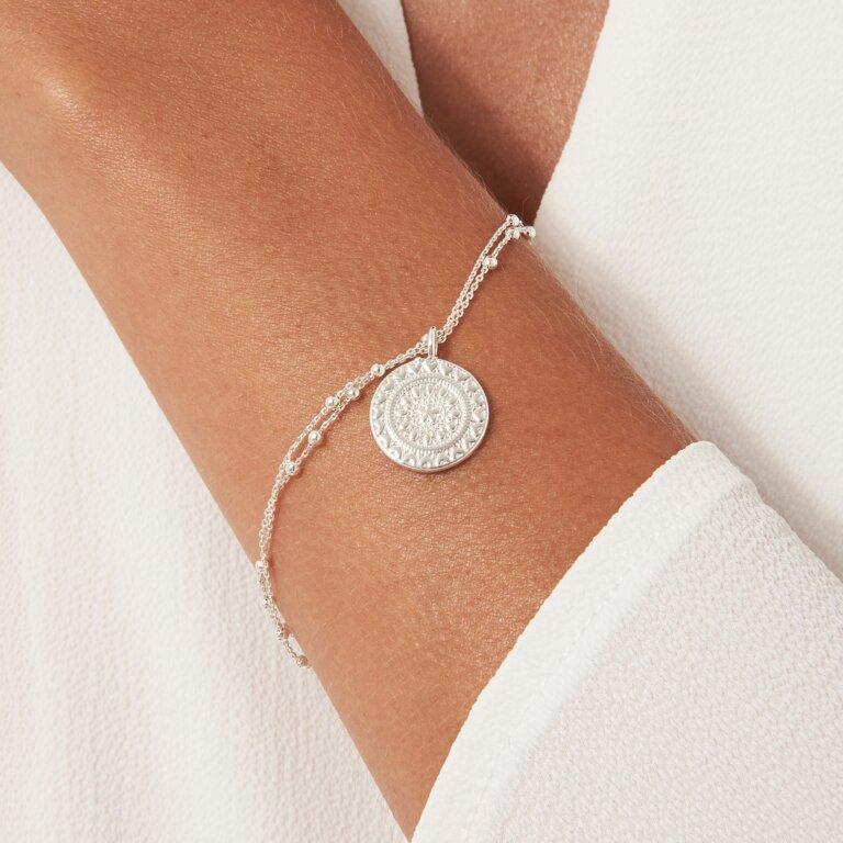 Zaria Silver Coin Bracelet