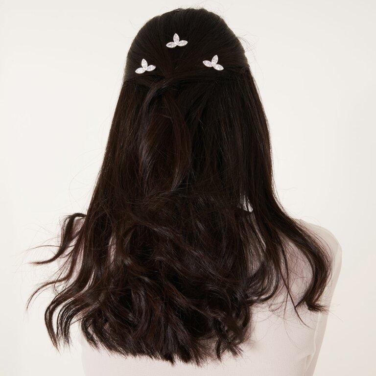 Happy Ever After Triple Leaf Hair Slides