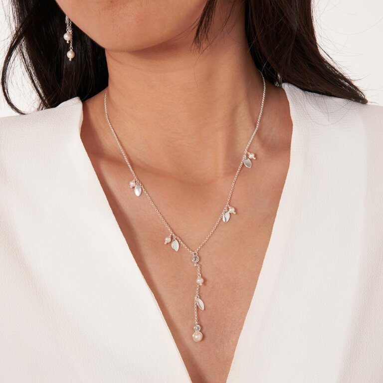 Happy Ever After Pearl Lariat Necklace