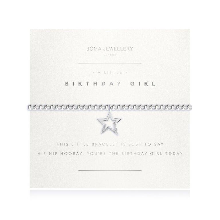 A Little Birthday Girl Faceted Bracelet
