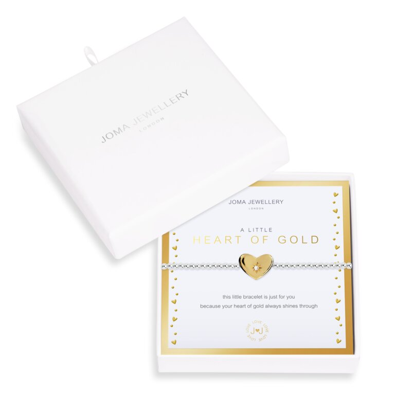 Beautifully Boxed A Little Heart Of Gold Bracelet