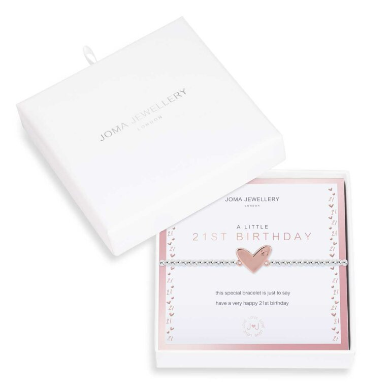 Beautifully Boxed A Little 21st Birthday Bracelet