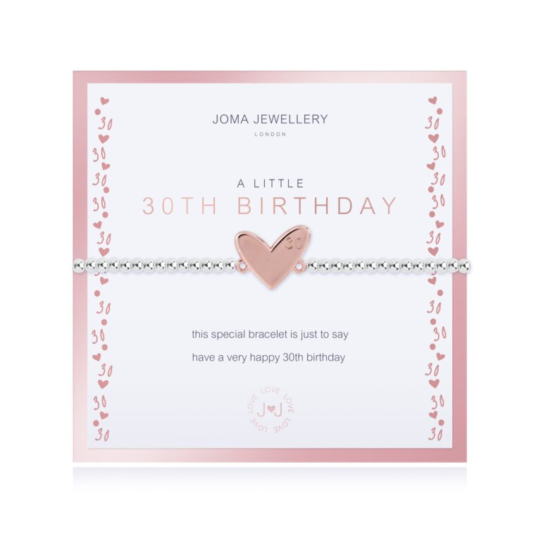 Beautifully Boxed A Little 30th Birthday Bracelet