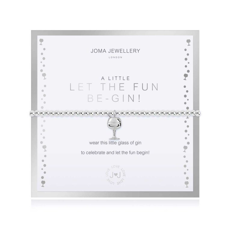 Beautifully Boxed A Little Let The Fun Be-Gin Bracelet
