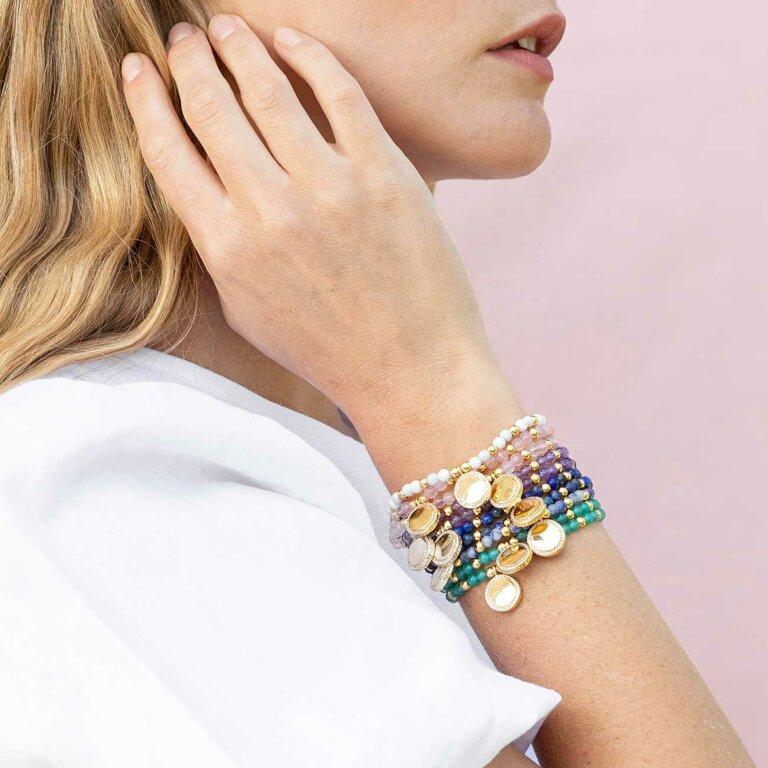 Wellness Gems Blue Lace Agate Bracelet