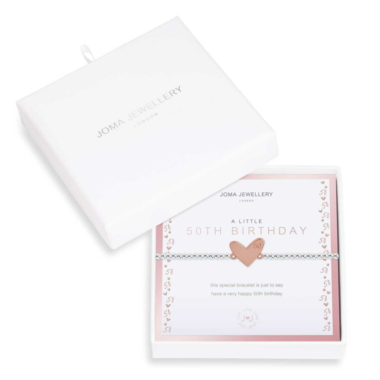 Beautifully Boxed A Little 50th Birthday Bracelet