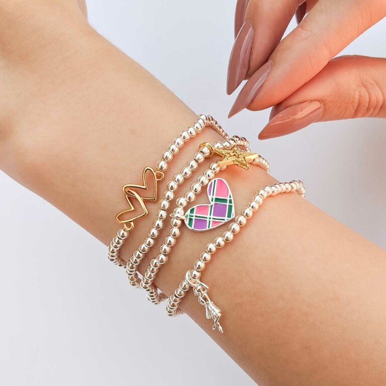 A Little Tartan Heart Scottish Bracelet