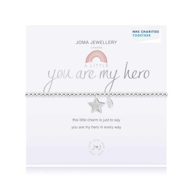 A Little You Are My Hero Nhs Bracelet