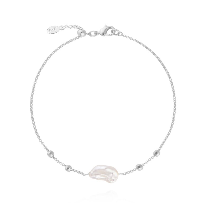 Silver Pearl Anklet