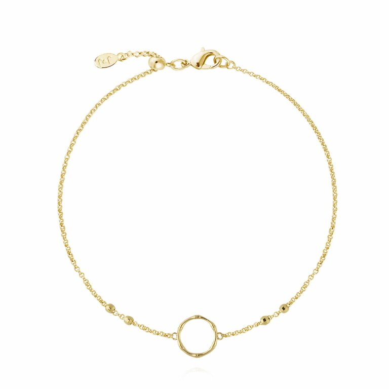 Gold Bamboo Loop Anklet