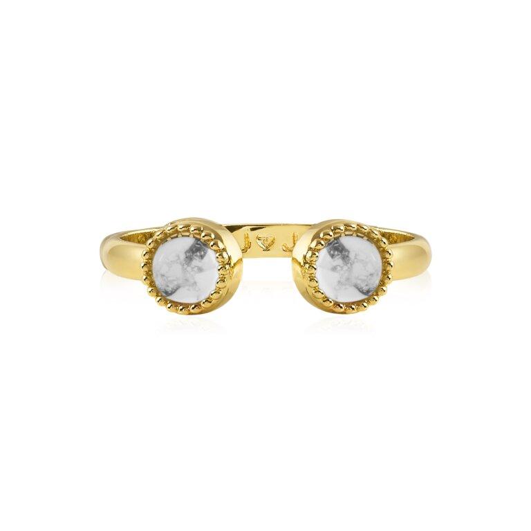 Capri Howlite Ring