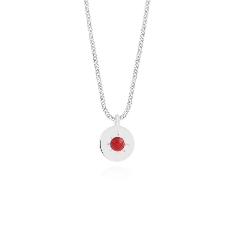 Birthstone a little Necklace January Garnet
