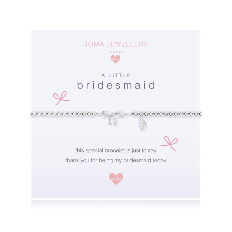 Children's A Little Bridesmaid Bracelet