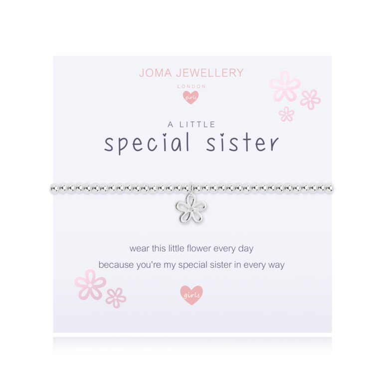 Children's A Little Special Sister Bracelet In Lilac