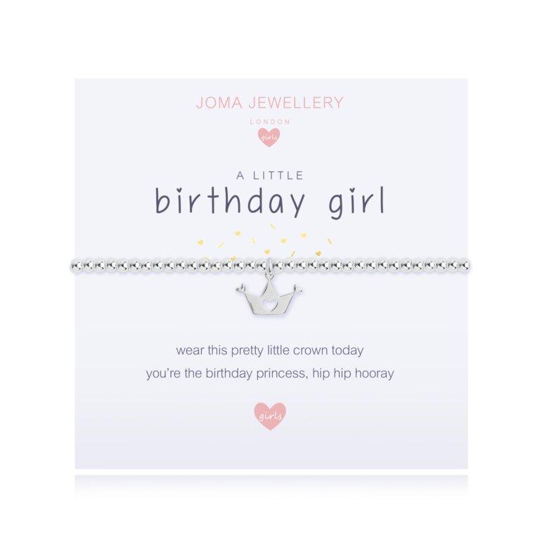 Children's A Little Birthday Girl Bracelet In Lemon