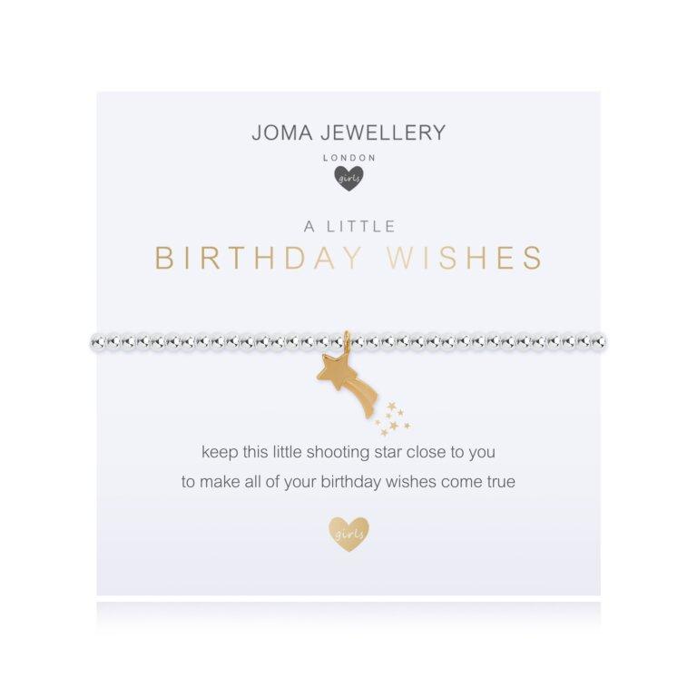 Children's A Little Birthday Wish Bracelet