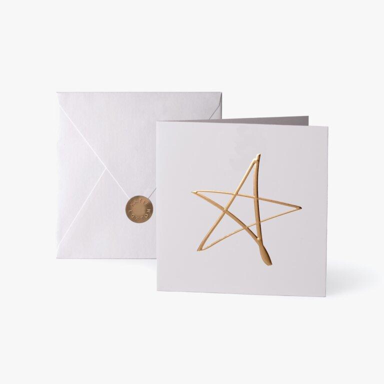 Greeting Card | Star | Gold Writing