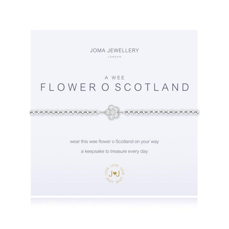 a wee Flower of Scotland Bracelet