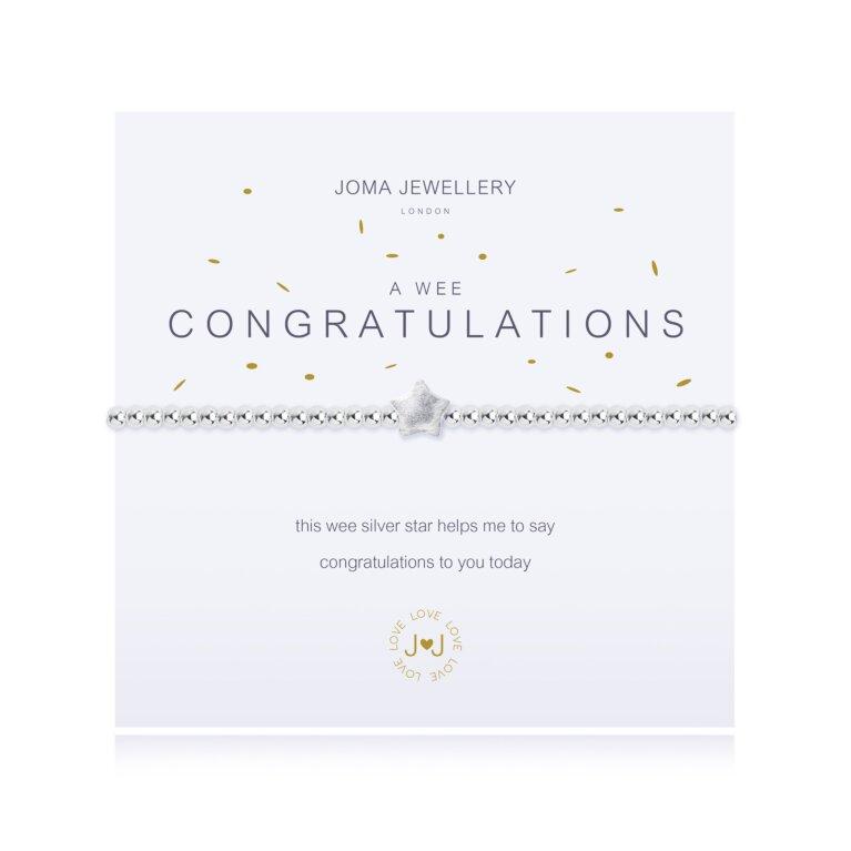 a wee Congratulations Bracelet