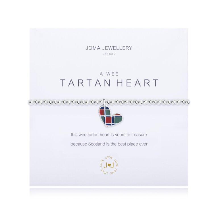 a wee Tartan Heart Bracelet