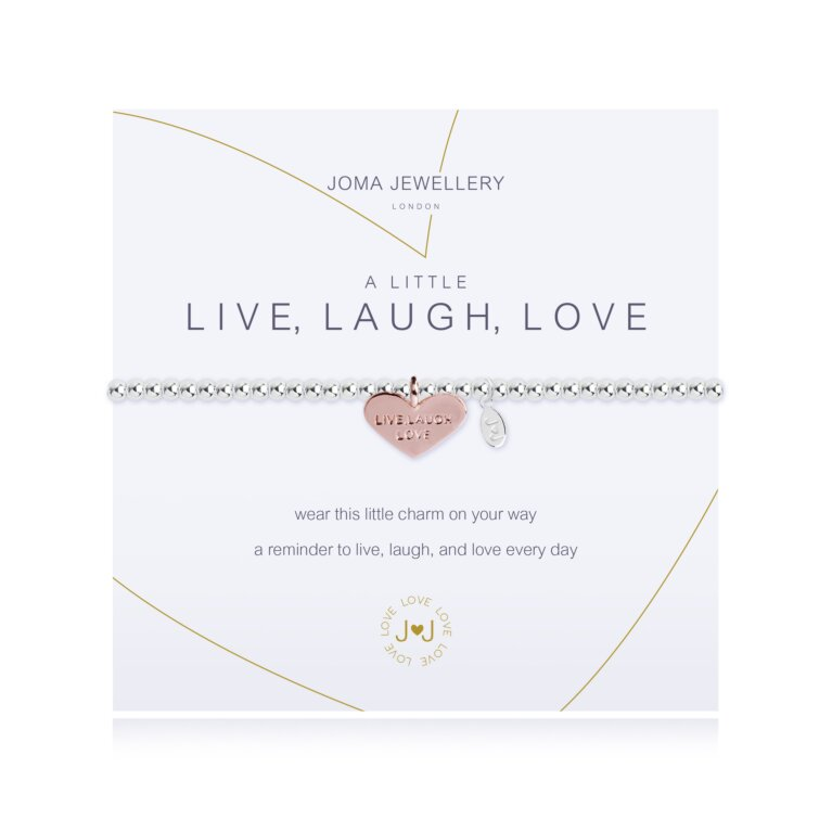 a little Live, Laugh, Love Bracelet