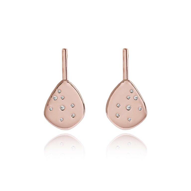 LIFES A CHARM  - Earrings - Rose Gold - Rose gold Shine teardrop earrings