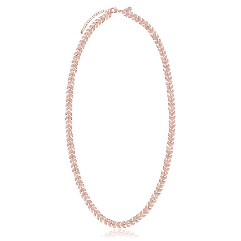 ZARI - rose gold chevron chain - necklace