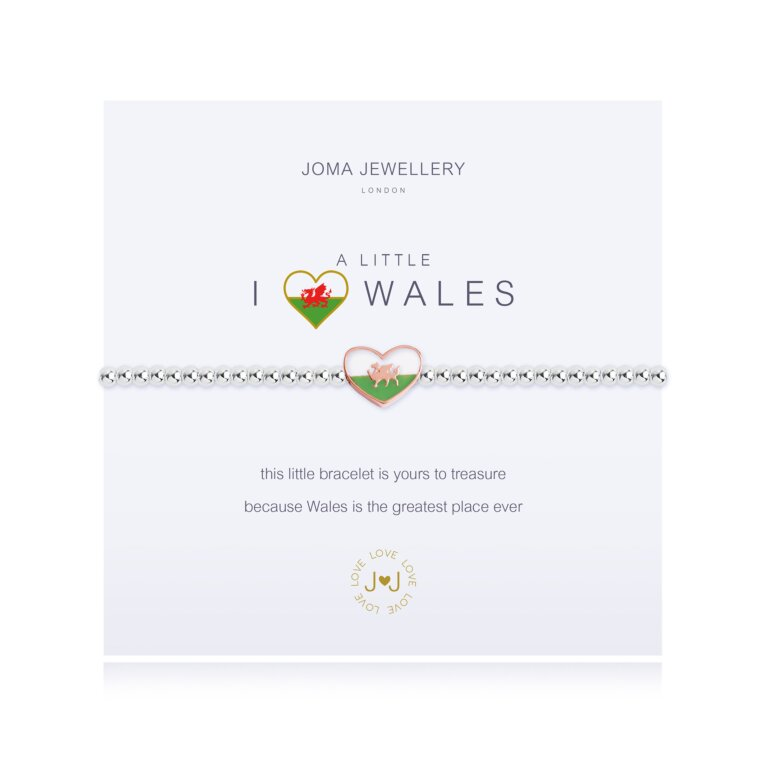 a little I love Wales Bracelet