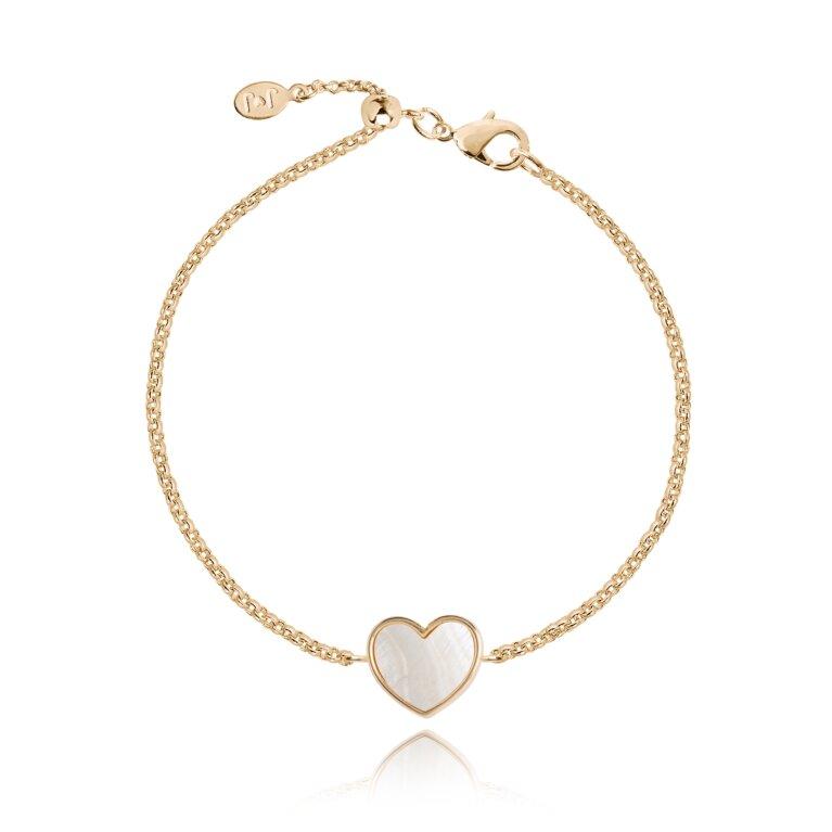 Shona Shell Heart Bracelet