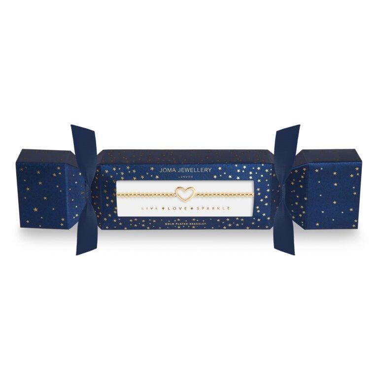 Christmas Cracker | Gold Heart Bracelet