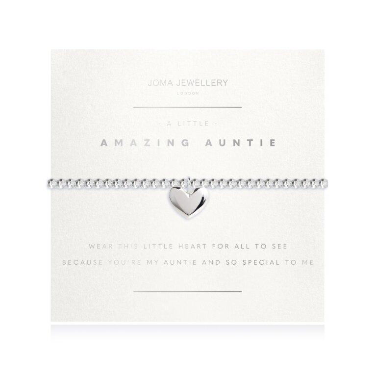 A Little Amazing Auntie Faceted Heart Bracelet