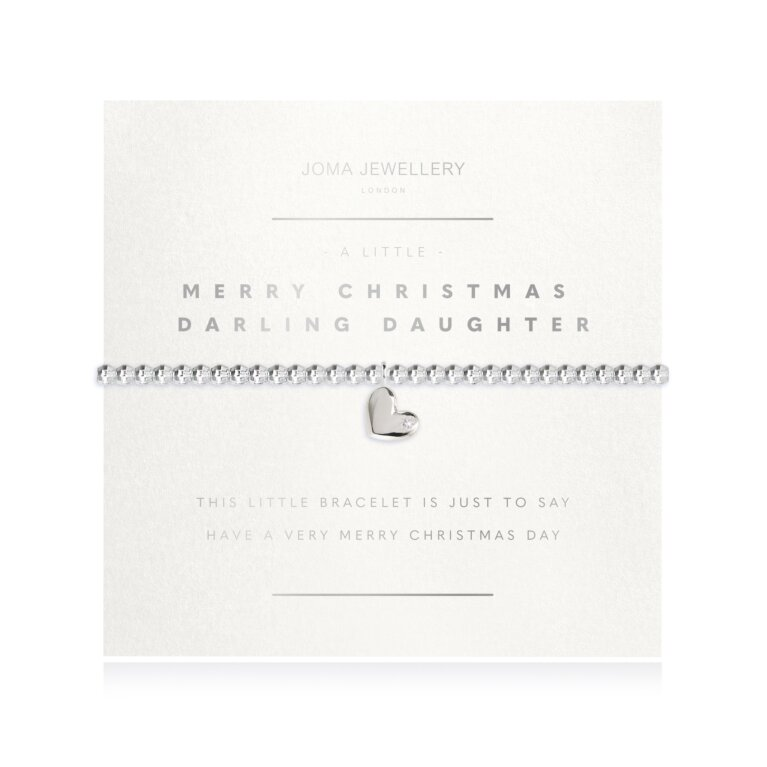 a little Merry Christmas Darling Daughter Faceted Bracelet
