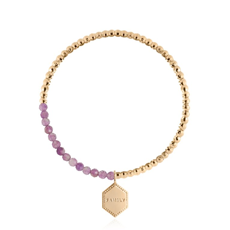 Signature Stones Amethyst Bracelet Gold | Family