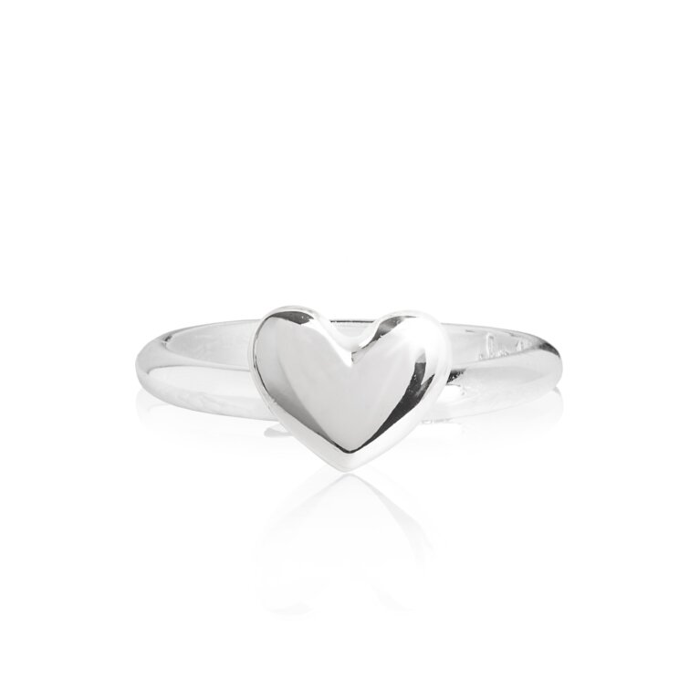Lila Heart Ring