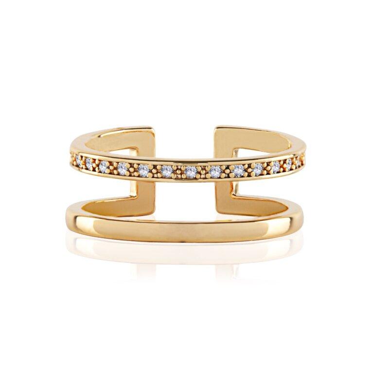Aztek Double Bar Ring