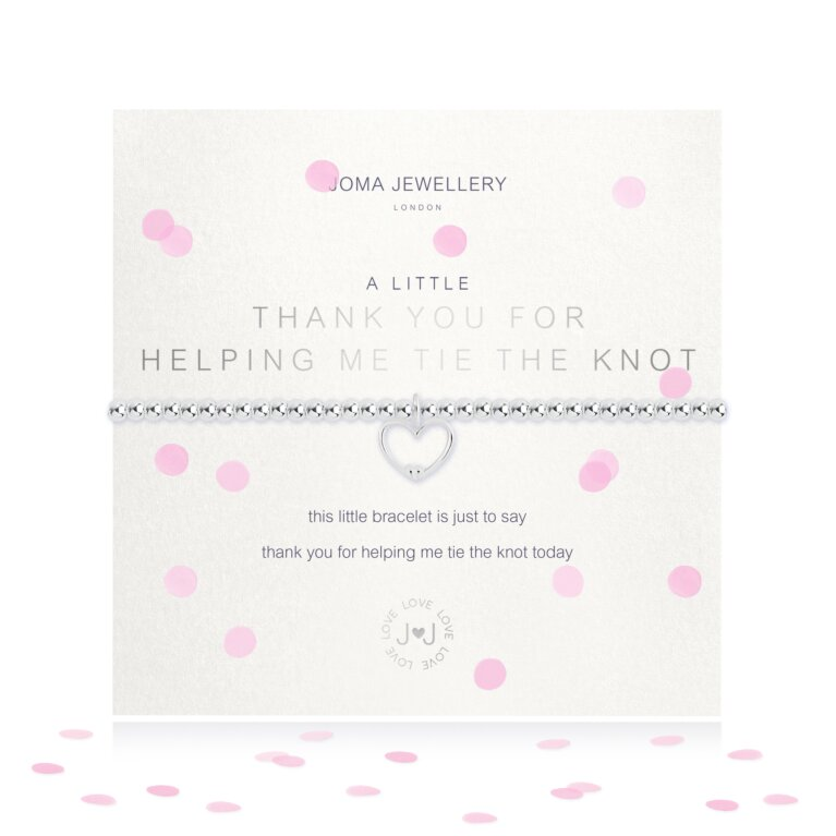 A Little Thank You For Helping Me Tie The Knot Bracelet