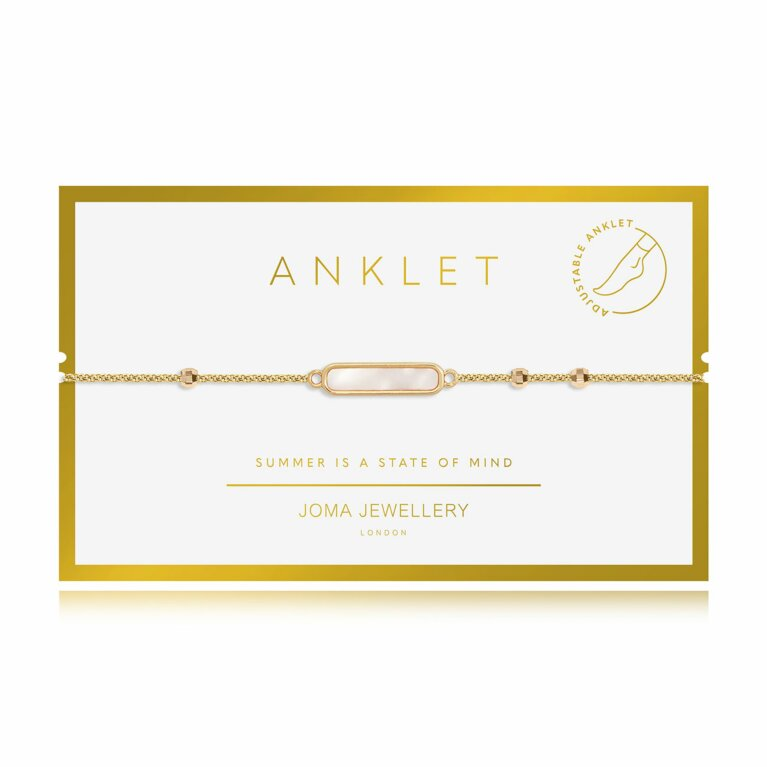 Anklet Gold Shell