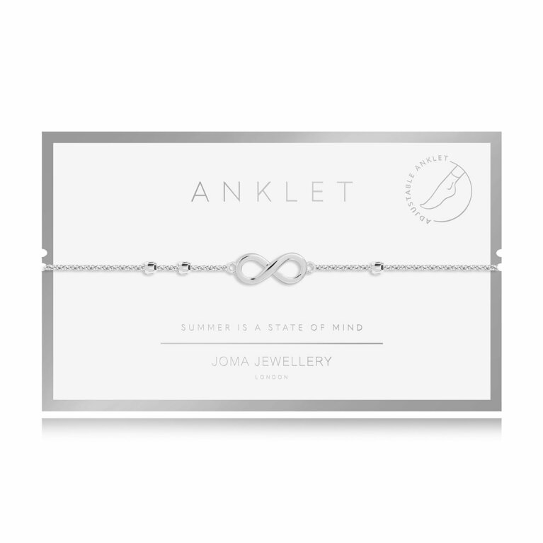 Anklet Silver Infinity