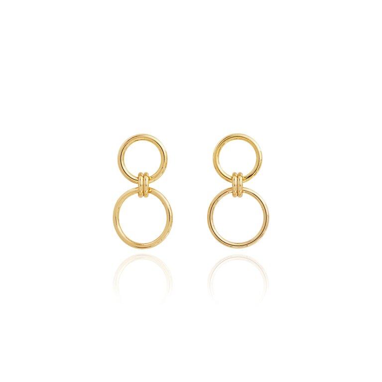 Linked Hoop Statement Earrings