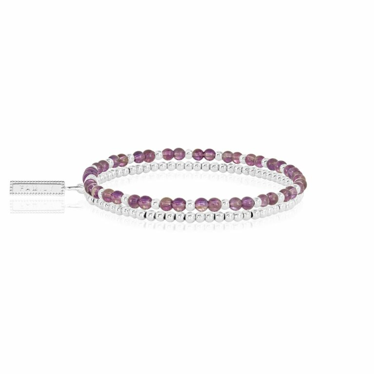 Signature Stones Amethyst Double Layer Bracelet