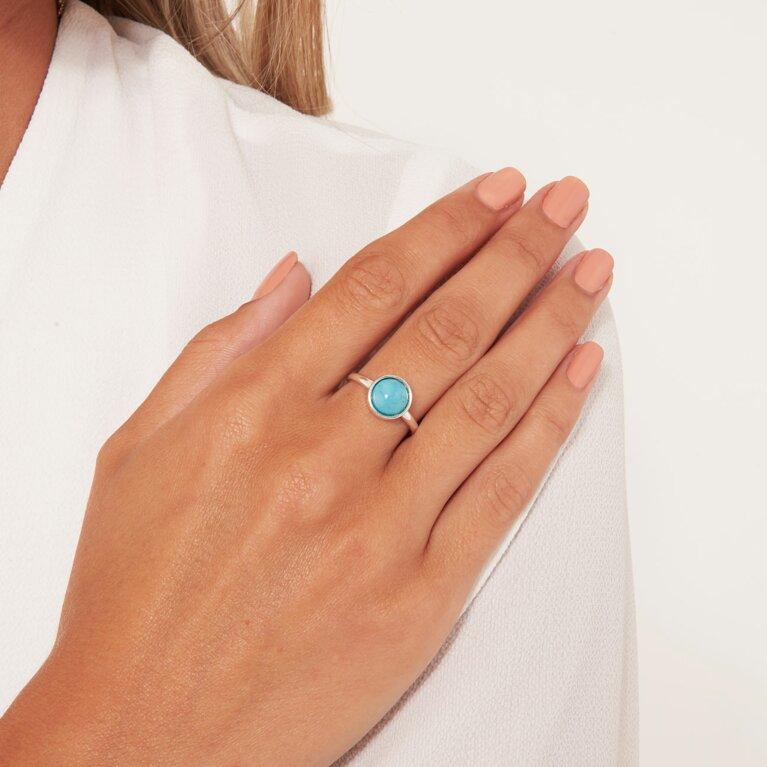 Signature Stones Free Spirit Turquoise Silver Ring