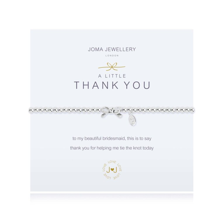 a little Thank you Bracelet (Bridesmaid)