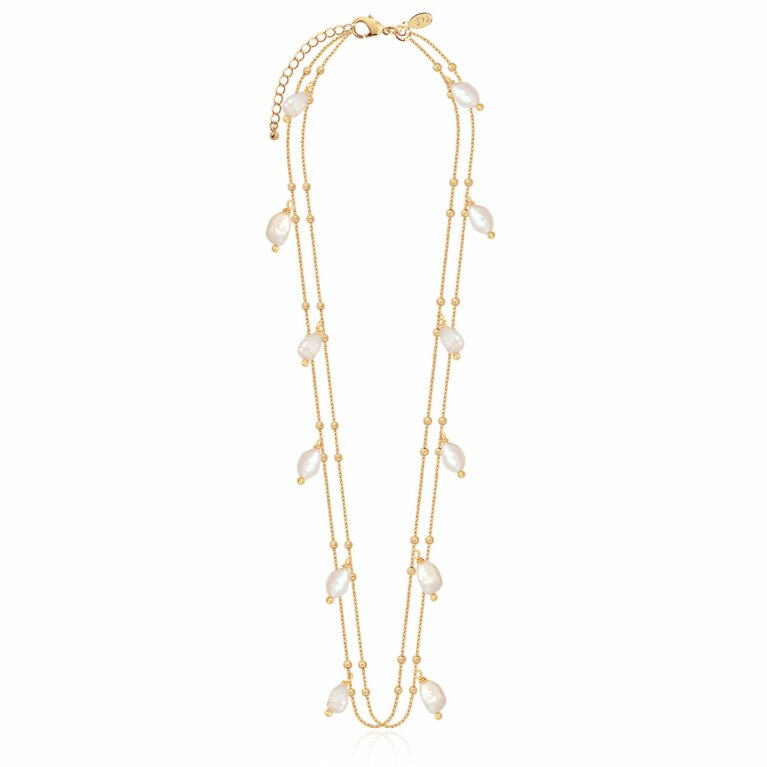Isla Pearl Double Wrap Necklace