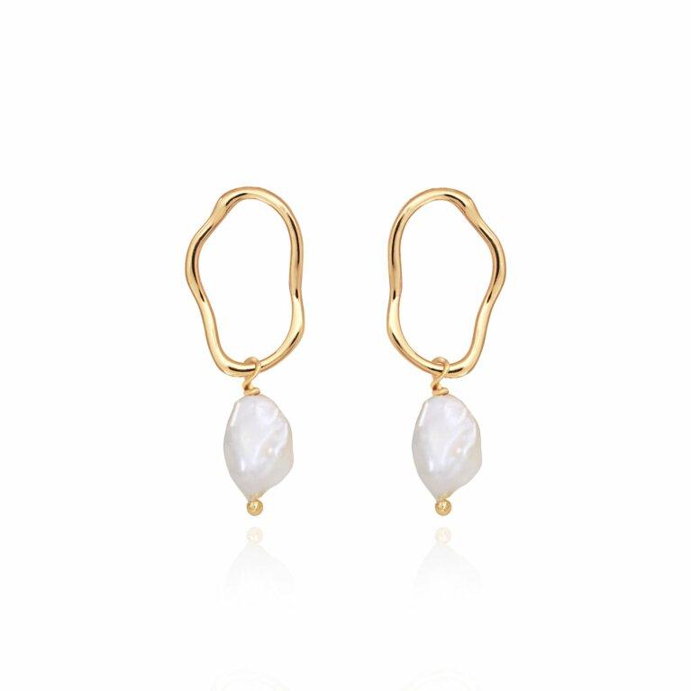 Isla Pearl Dangle Stud Earrings