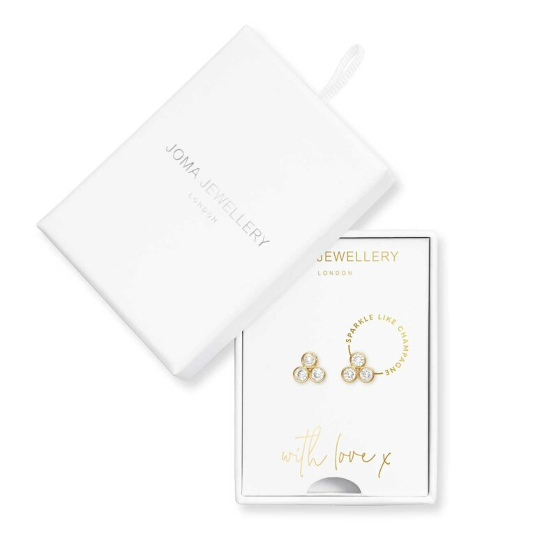 Treasure The Little Things Sparkle Like Champagne Earring Box